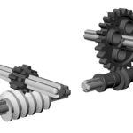 Модель с червячной передачей LEGO  WeDo 2.0